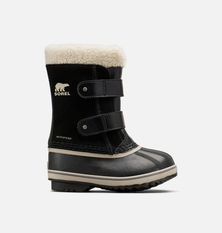 Sorel Kids Snow Boots Childrens 1964 Pac™ Strap - Black - India 35129-MLYN