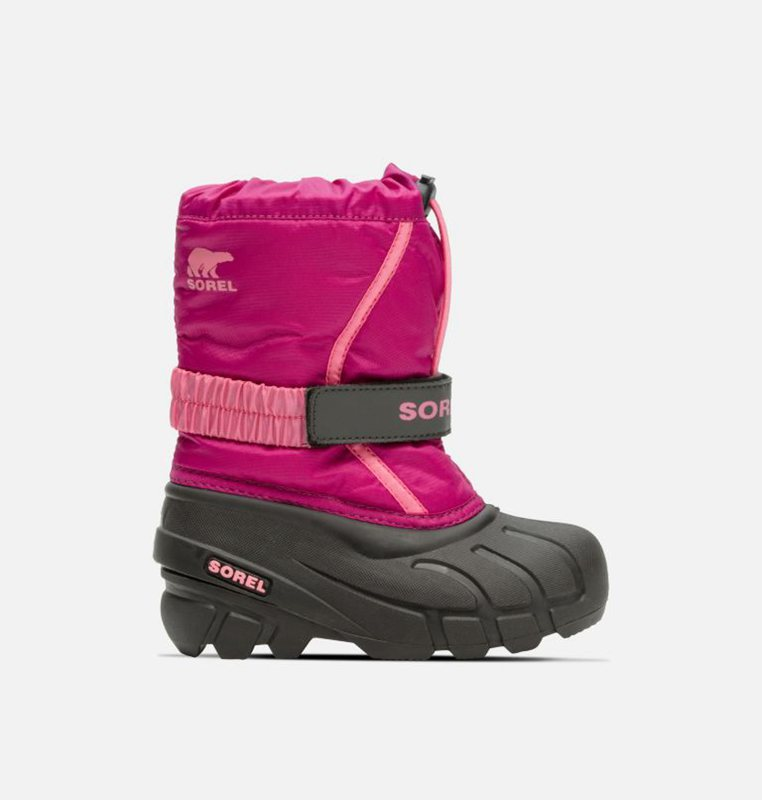 Sorel Kids Snow Boots Childrens Flurry™ - Pink/Black - India 23076-JSMO