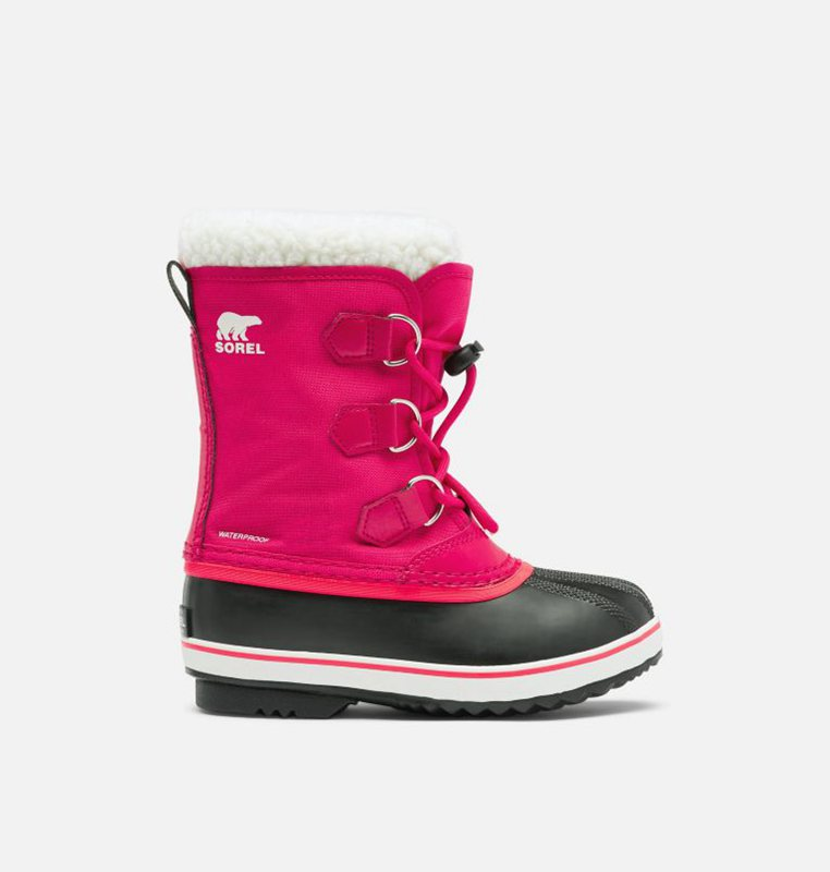 Sorel Kids Snow Boots Youth Yoot Pac™ Nylon - Pink/Black - India 32987-STNA